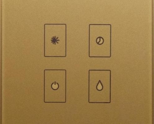کلید لمسی کولر طلایی رنگ