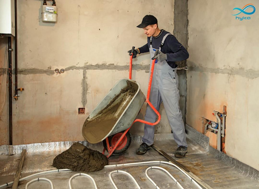 مراحل نصب سیستم گرمایش سرمایش از کف